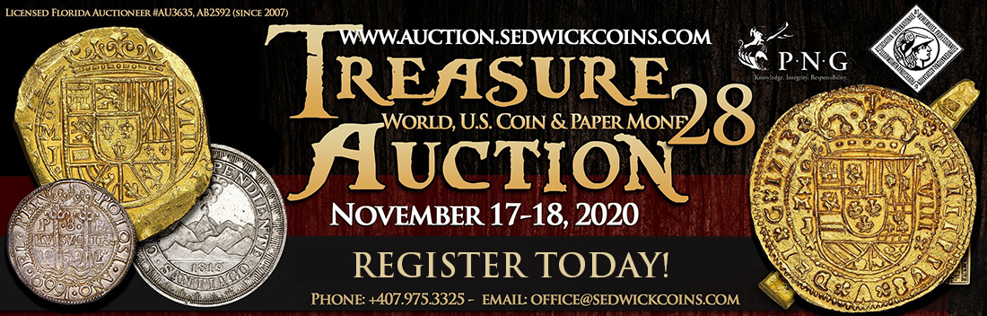 Treasure, World, U.S. Coin and Paper Money Auction 28